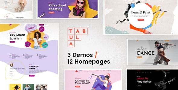 Tabula [v2.0.1] Art and Language School WordPress Theme Free Download, Nulled