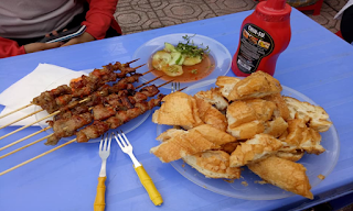 Quán bánh mì nướng tại Phố Muối, tp Lạng Sơn