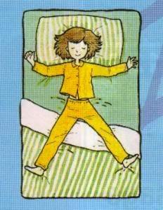 Tidur Terlentang dengan Tangan dan Kaki Terbuka Lebar