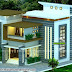 2340 square feet 4 bedroom slanting roof mix modern home