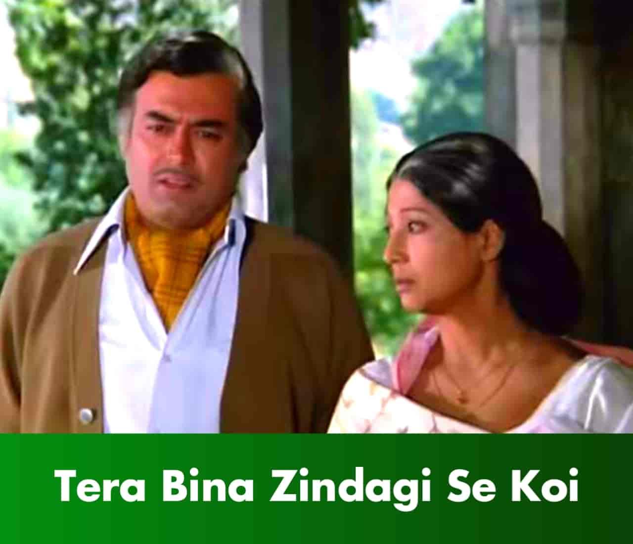 Tera bina zindagi se koi Hindi Sad Song Lyrics, Sung By Lata Mangeshkar and Kishor Kumar.