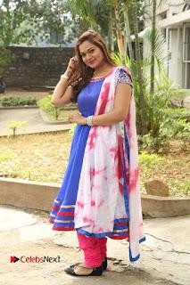 Actress Ashwini Stills in Blue Chudidar at Ameerpet Lo Release Press Meet  0230.JPG