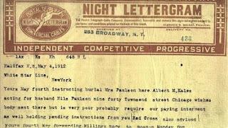Telegrama del Titanic