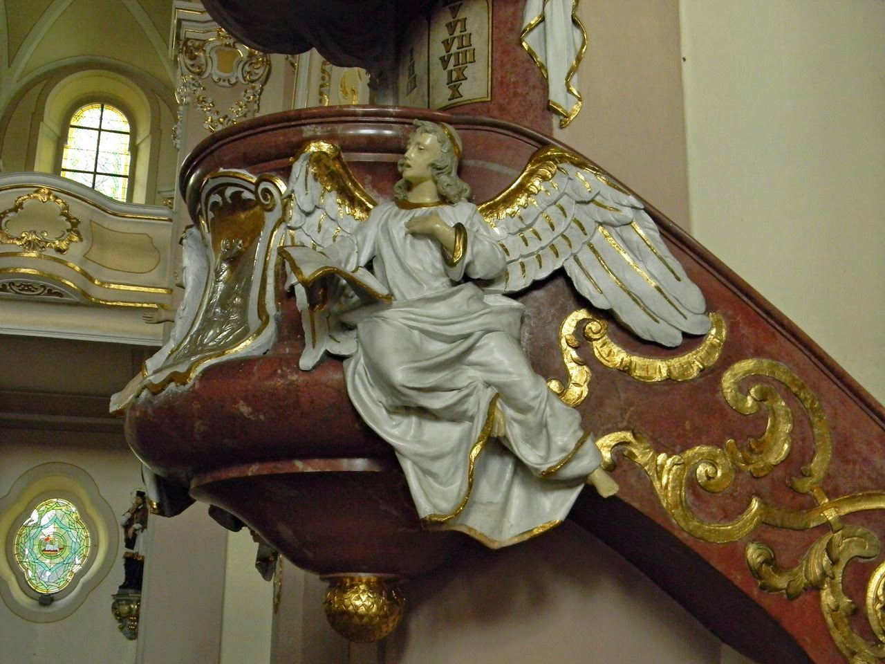 kościół w Korfantowie, anioł