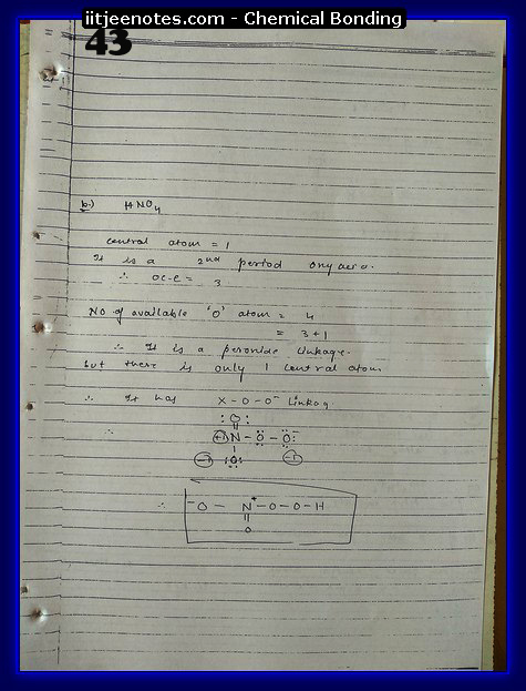 Chemical Bonding Notes IITJEE 20