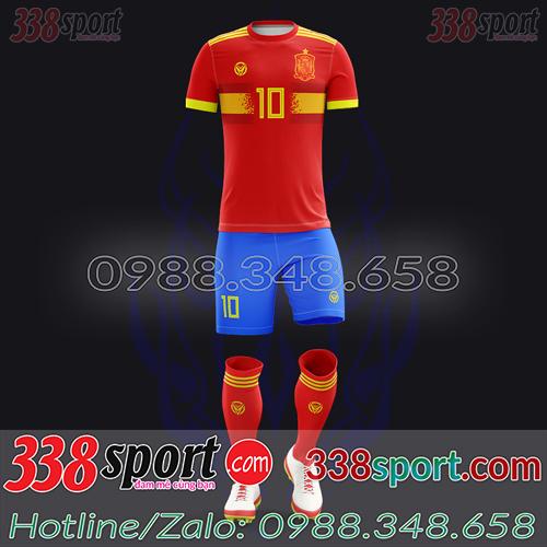 Áo Đội Tuyển Tây Ban Nha Đặt May Theo Yêu Cầu - Mã TBN 03