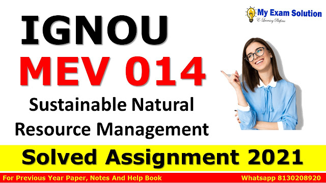 MEV 014 Solved Assignment 2021-22
