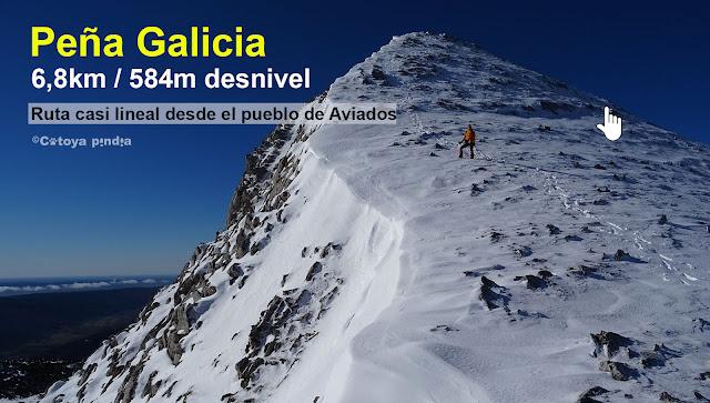 Ruta corta a Peña Galicia
