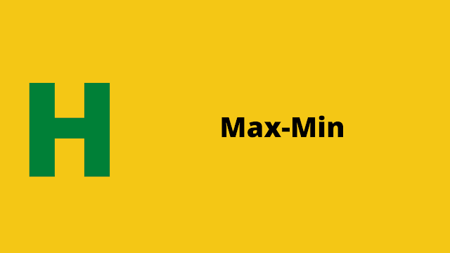 HackerRank Max Min Interview preparation kit solution