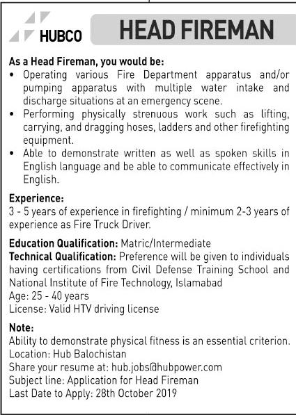 Hub Balochistan Jobs 2019