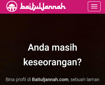 Pendaftaran Cari Jodoh di Portal Baituljannah.com