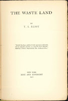 "A title page for ""The Waste Land."""