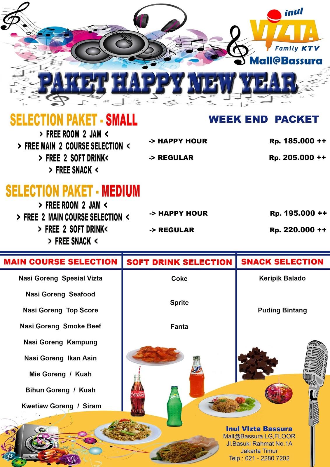 PAKET HAPPY NEW YEAR INUL VIZTA MALL@BASSURA WEEK END, PAKET HAPPY NEW YEAR INUL VIZTA BASSURA WEEK END