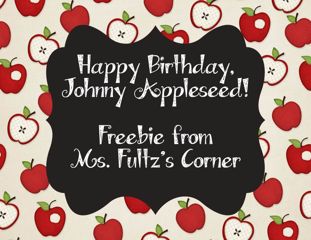 Classroom Freebies Too Johnny Appleseed Writing Freebie