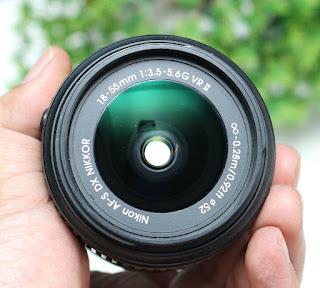 Jual lensa Kit Nikon 18-55mm VR2 Bekas