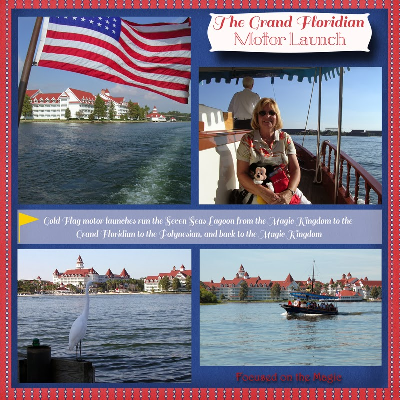 Grand Floridian Resort water transportation