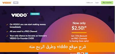 شرح موقع viddo وطرق الربح منه