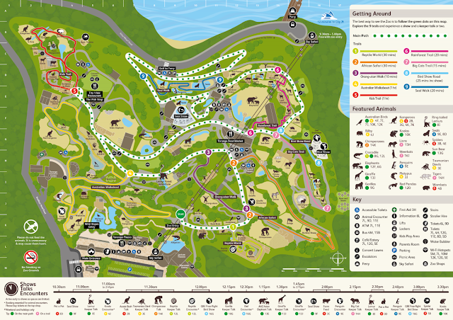 Sydney - Taronga Zoo Map