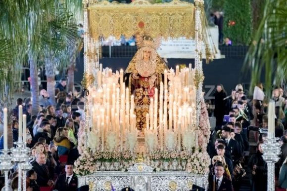Horario e itinerario de la salida de Dolores del Nazareno en Santo Rosario en Cádiz
