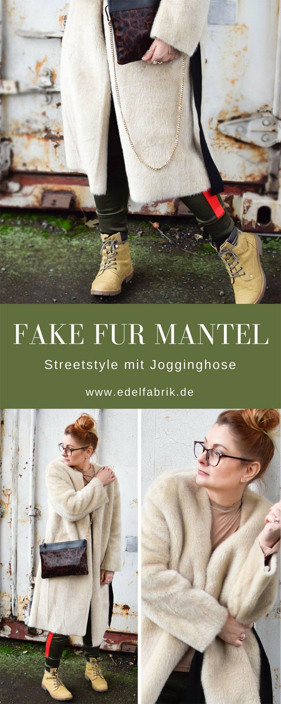 Fakefur Mantel von H&M, Teddy Fell Mantel von H&M