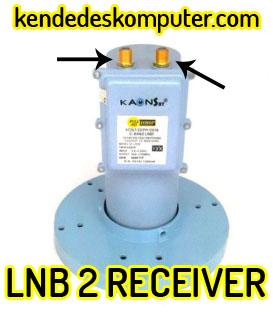 LNB 1-2 Receiver 1 Satelit, 1 Parabola