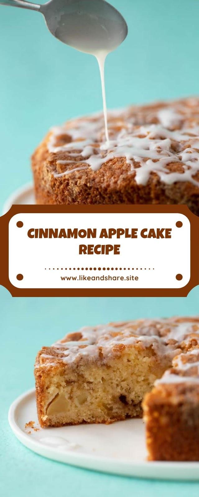 CINNAMON APPLE CAKE RECIPE