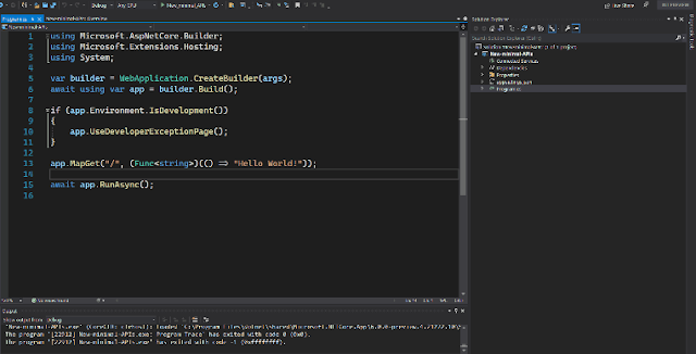 ASP.NET 6.0 Minimal APIs