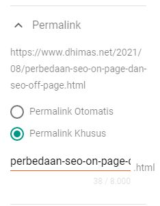 Struktur URL Perbedaan SEO On Page dan Off Page