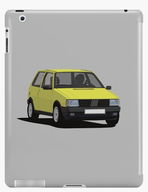 Fiat Uno (Type 146) tablet cover yellow