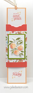VIDEO: Double Slider Card Tutorial +  Stampin' Up! Sweet as a Peach & Card ~ www.juliedavison.com #stampinup