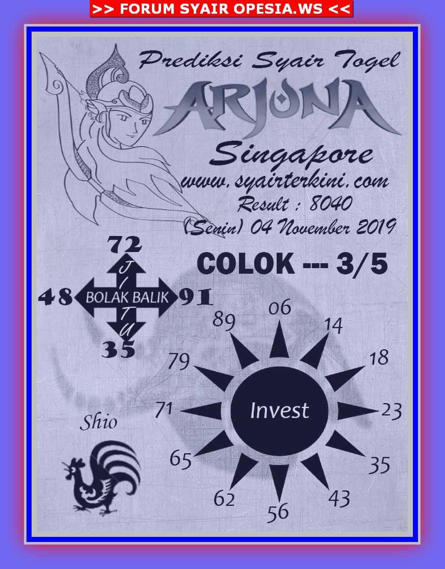 Kode syair Singapore Senin 4 November 2019 47