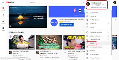 buat channel youtube