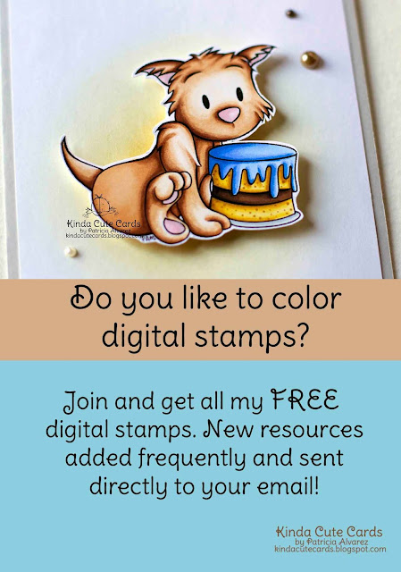 All Kinda Cute Cards free digital stamps