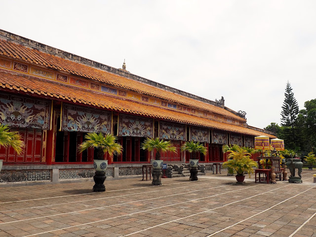 Building inside the Imperial Citadel, Hue, Vietnam