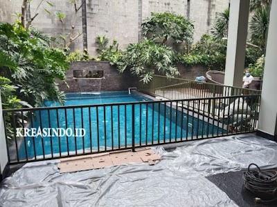 Hasil pemasangan Pagar Kolam Renang yang di pesan Bpk Christian ini Cantik Pondok Indah Jakarta
