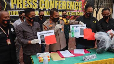 Konferensi Pers Polres Cilegon, Kasus Tindak Pidana Pembunuhan Berencana Dengan Racun Tikus