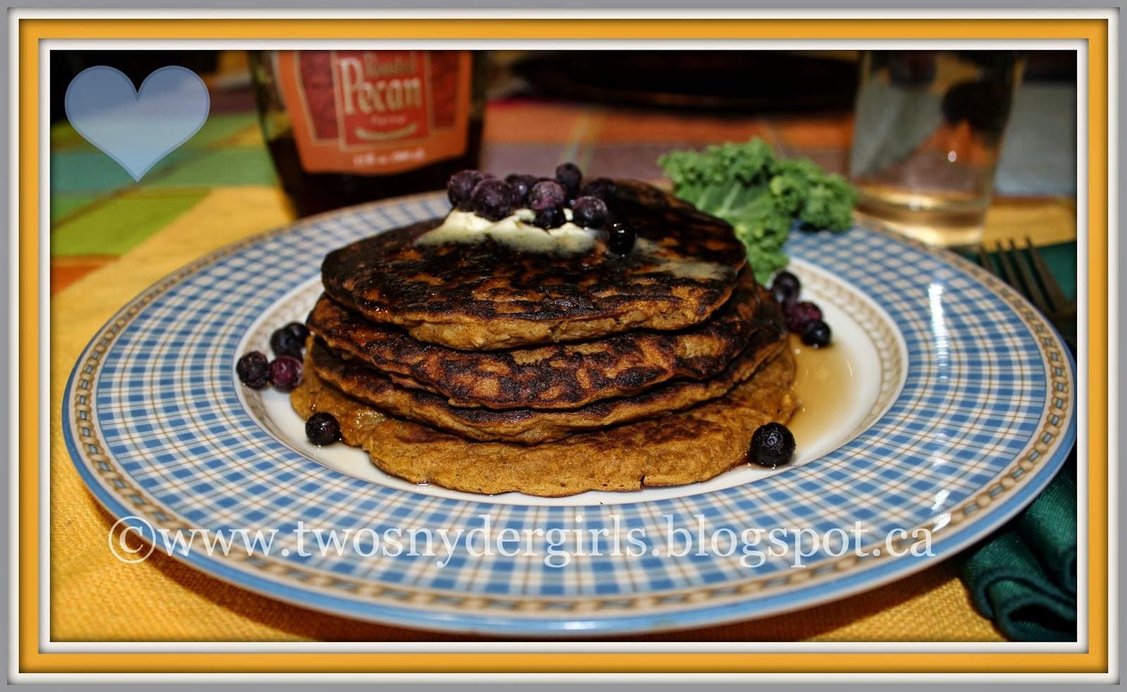 Gluten free Oatmeal Pumpkin Pancakes