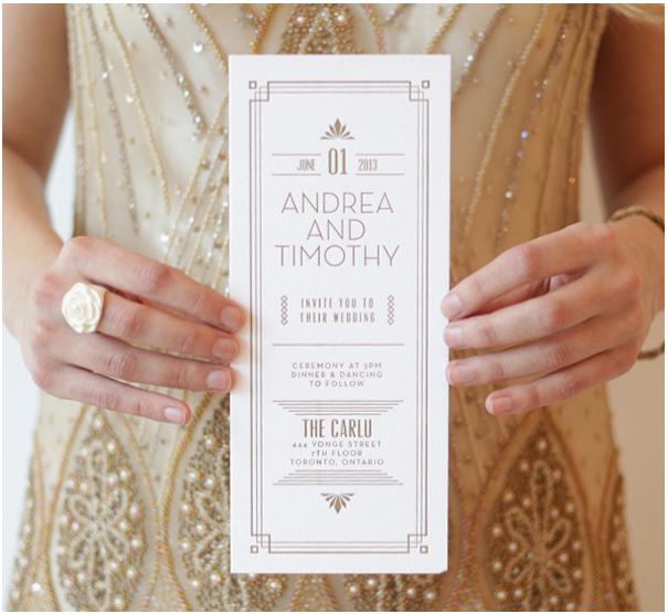 Great Gatsby Wedding Invites: Parentesi Wedding Blog: THE GREAT GATSBY Inspired Wedding