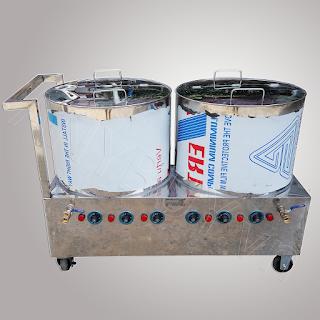 Bộ nồi phở inox 304 dùng điện 80L-80L