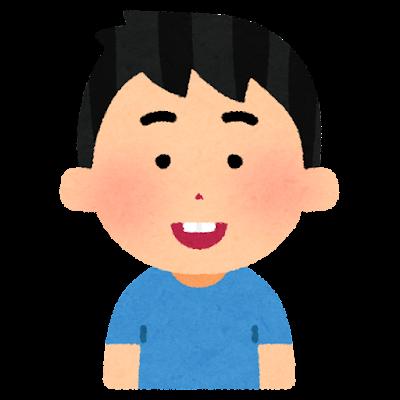 出っ歯の人のイラスト(男性)
