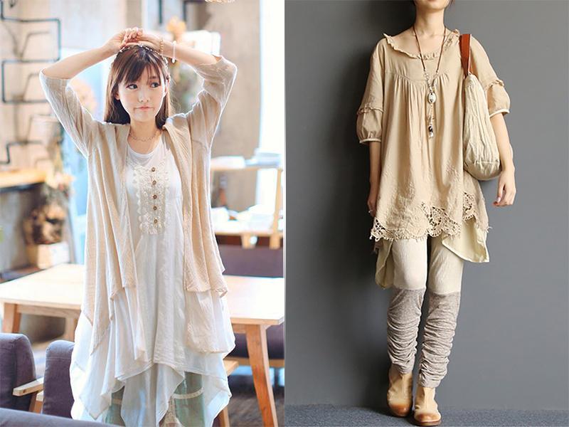 Японский стиль Mori girl Девушки-Мори одежда