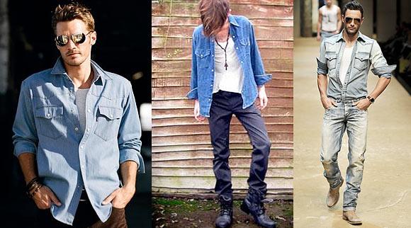 Uma boa opção para o uso das camisas jeans 9468f86d888a5