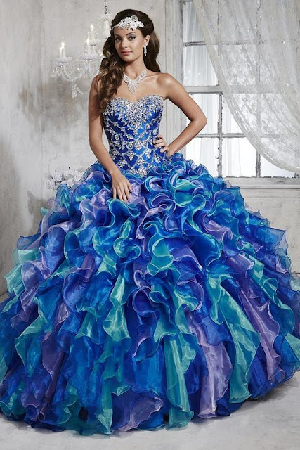 QUINCEANERA COLLECTION - 26788 FULLY BEADED SWEETHEART RUFFLE BALLGOWN
