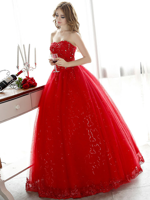 Charming Lace Beading Sweetheart Ball Gown Lace-Up Floor Lenght Wedding Dress