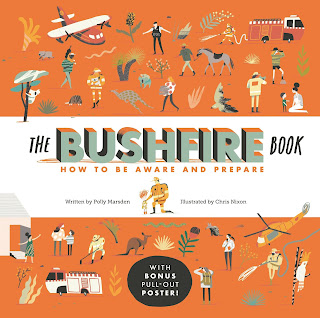 The Bushfire Book: How to Be Aware and Prepare by Polly Marsden and illustrated by Chris Nixon book cover