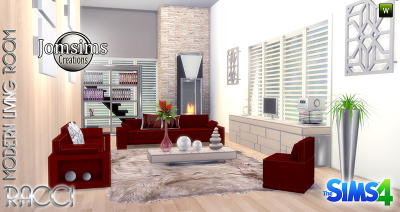 My sims 4 blog racci living room set by jomsims for Living room ideas sims 3