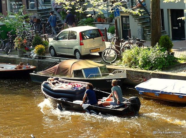 cool boat i n Amsterdam