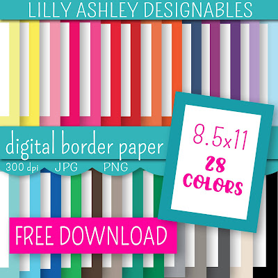 free digital paper lilly ashley designables