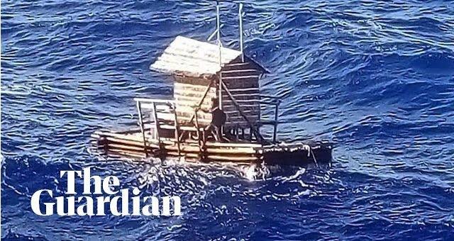Επιβίωσε 49 ημέρες στη θάλασσα πάνω σε πλωτή καλύβα! (video)