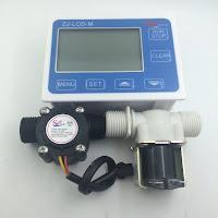 Jual Water Flow Control + Flow Sensor + Solenoid Valve  Tlp : 08128222998 